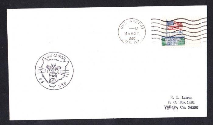 USS CATFISH SS-339 USS Sperry 1970 Naval Submarine Cover