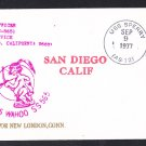 USS WAHOO SS-565 San Diego to New London 1977 Naval Submarine Cover