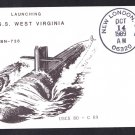 USS WEST VIRGINIA SSBN-736 Launching Naval Submarine Cover