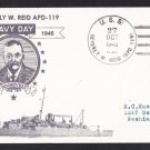 USS BEVERLY W. REID APD-119 Navy Day 1945 Naval Cover MHcachets ONLY 1 MADE