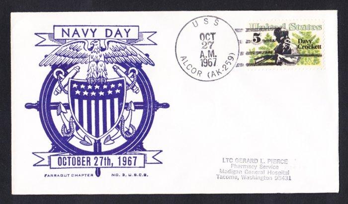USS ALCOR AK-259 Navy Day Naval Cover
