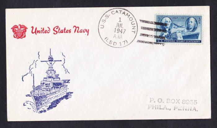 USS CATAMOUNT LSD-17 1947 Naval Cover