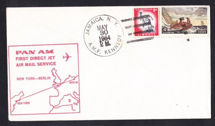 PAN AMERICAN NY to Berlin Germany First Flight Cover