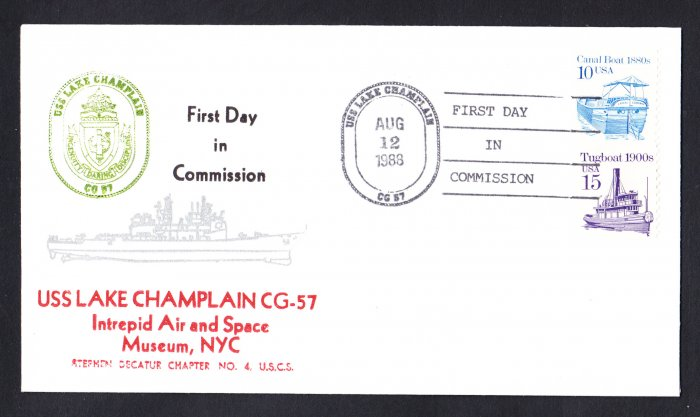USS LAKE CHAMPLAIN CG-57 Commissioning Naval Cover
