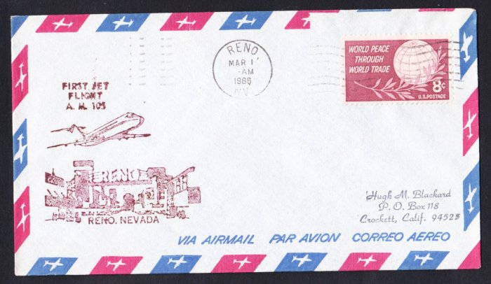 AM105 Reno NV to Phoenix AZ First Flight Cover
