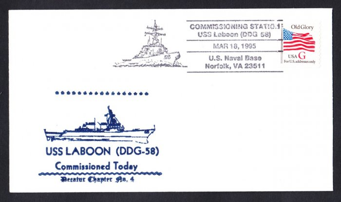 USS LABOON DDG-58 Commissioning Naval Cover