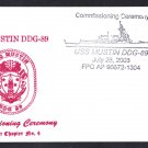 USS MUSTIN DDG-89 Commissioning Naval Cover