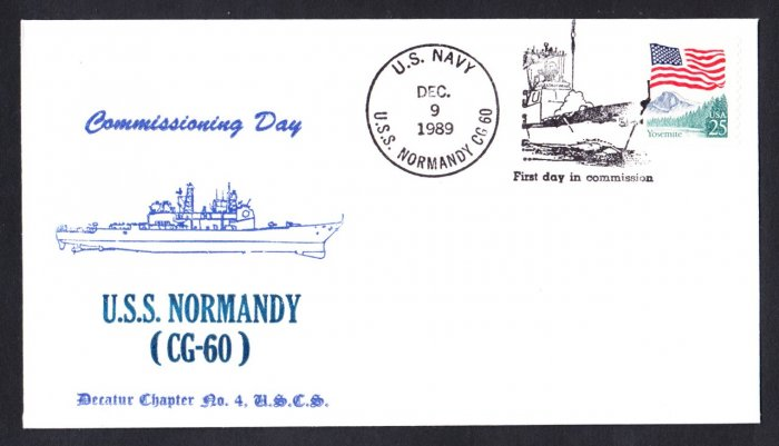 USS NORMANDY CG-60 Commissioning Naval Cover