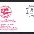 USS HARTFORD SSN-768 Change of Command Naval Submarine Cover