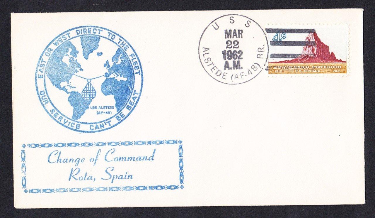 USS ALSTEDE AF-48 Rota Spain Naval Cover