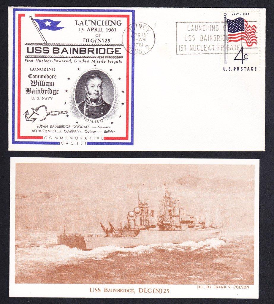 USS BAINBRIDGE DLGN-25 Launching Naval Cover