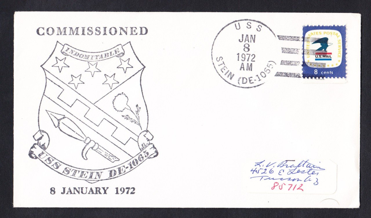 USS STEIN DE-1065 Commissioning Naval Cover