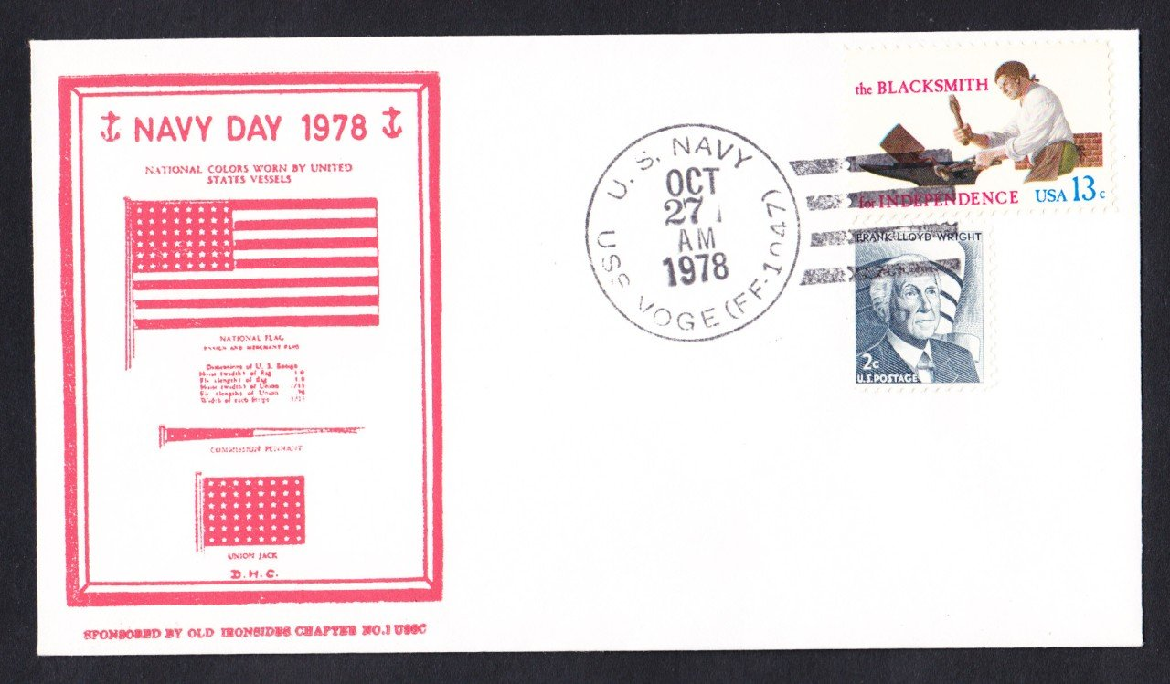 USS VODE FF-1047 Navy Day Naval Cover