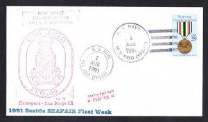 USS REID FFG-30 Seattle Seafair Fleet Naval Cover