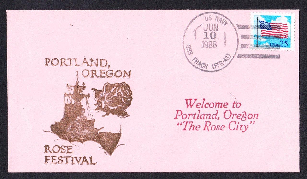 USS THACH FFG-43 Portland Rose Festival Naval Cover