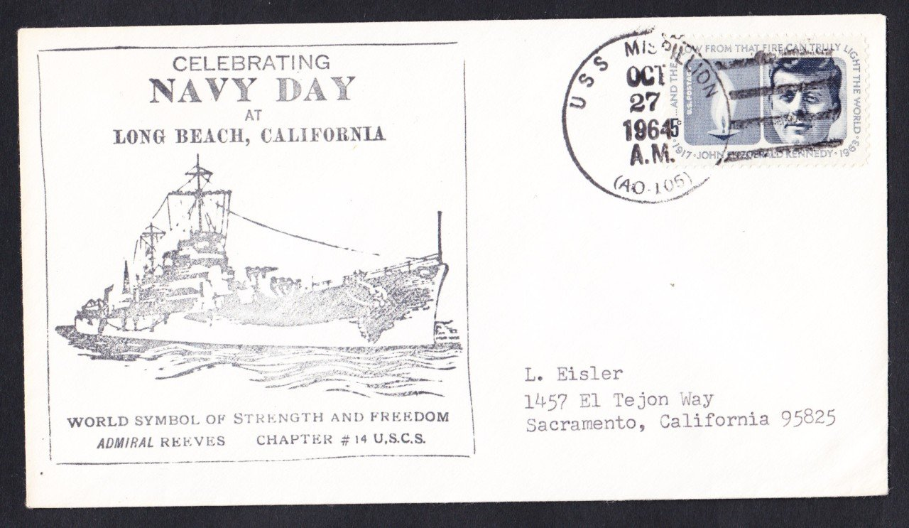 USS MISPILLION AO-105 Navy Day Naval Cover