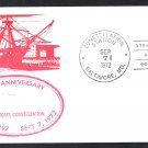 Frigate USS CONSTELLATION 175th Anniversary Naval Cover