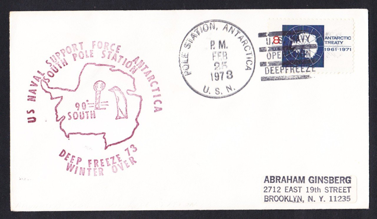 POLE STATION ANTARCTICA Deep Freeze 1973 Polar Cover
