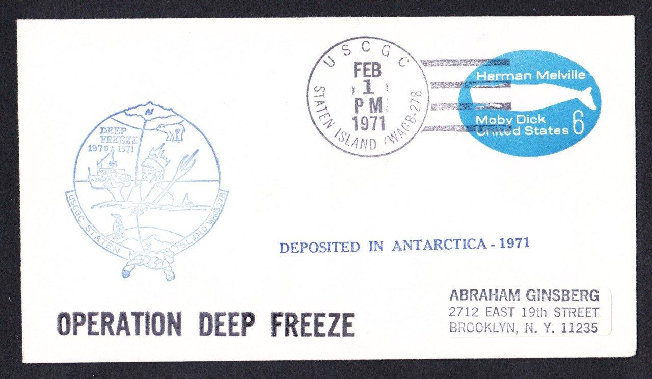 USCGC STATEN ISLAND WAGB-278 Deep Freeze 1971 Polar Ship Cover