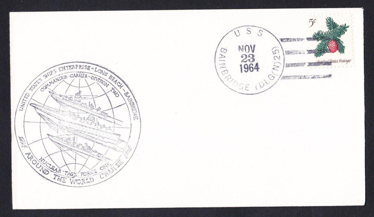 USS BAINBRIDGE DLGN-25 First Nuclear Ships Task Force Naval Cover