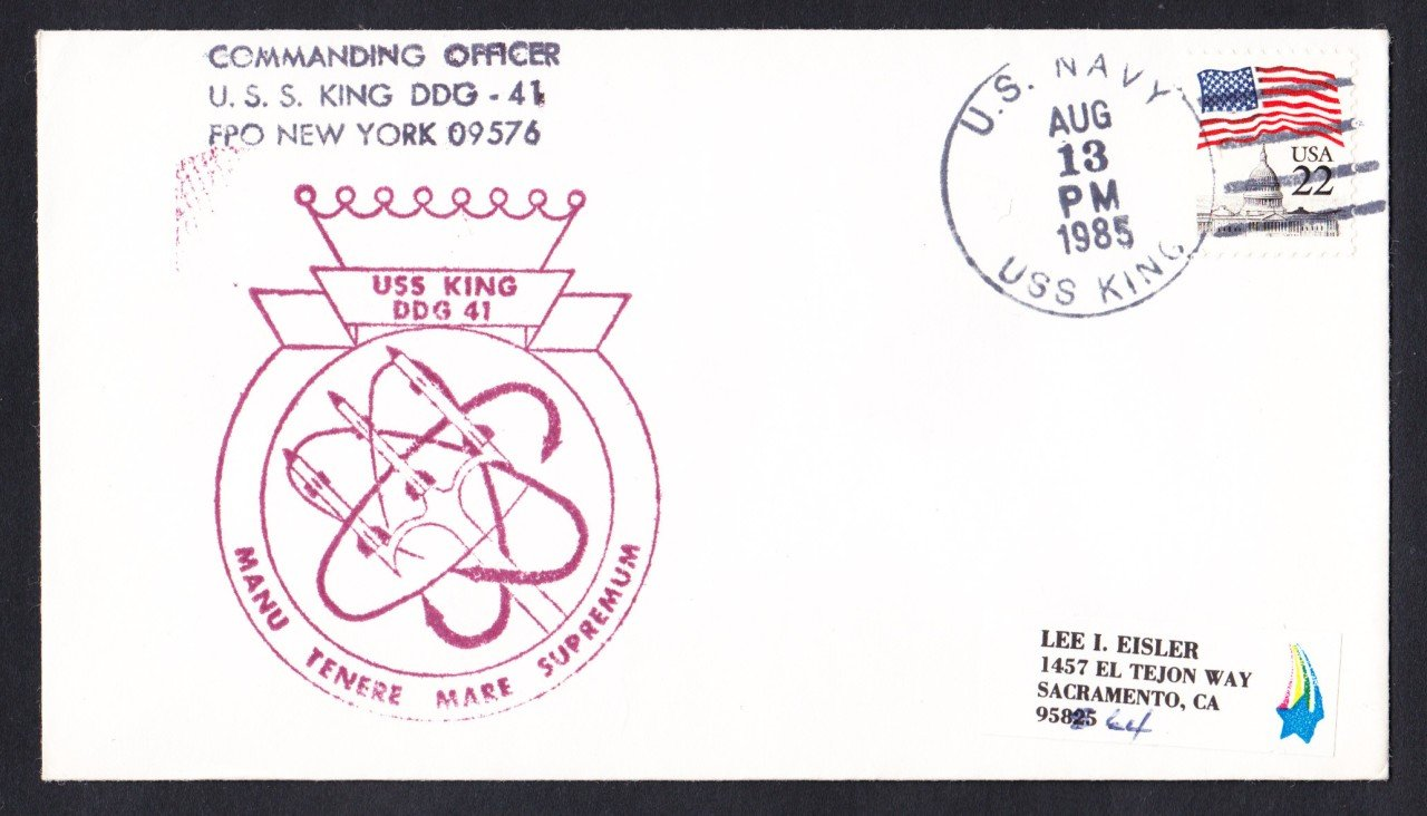 USS KING DDG-41 Naval Cover