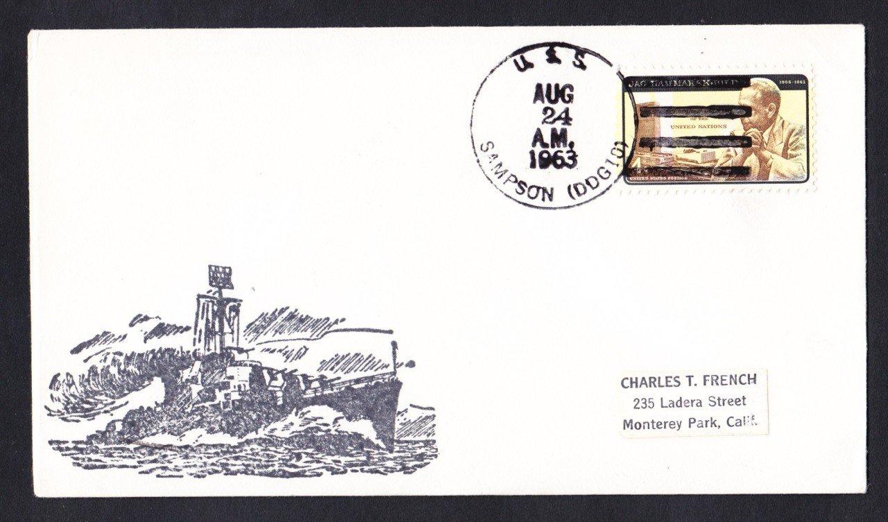 USS SAMPSON DDG-10 Naval Cover