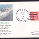 USS ALAMO LSD-33 1957 Naval Cover MHcachets ONLY 1 MADE