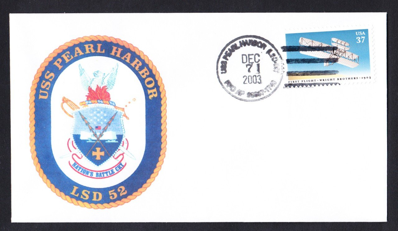 USS PEARL HARBOR LSD-52 Pearl Harbor Day Naval Cover ONLY 9 MADE