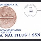 USS NAUTILUS SSN-571 Decommissioning Naval Submarine Cover