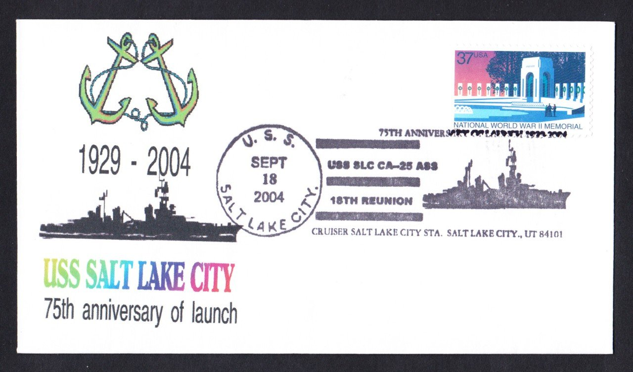 USS SALT LAKE CITY CA-25 75th Anniversary Naval Cover