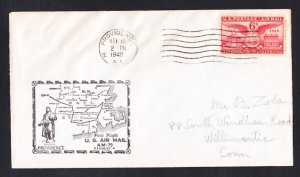 AM79 Providence RI to Norwood MA 1949 First Flight Cover