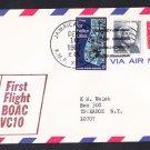 BOAC NY to St. John's Antigua 1967 First Flight Cover