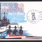 USS L.Y. SPEAR AS-36 COMMISSIONING Naval Cover