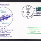 USS ST. LOUIS LKA-116 Commissioning Naval Cover