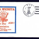 Replenishmment Ship USS WICHITA AOR-1 Commissioning Beck #B808 Naval Cover