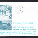 USS NAUTILUS SSN-571 Transpolar North Pole Trip Barrow Alaska Submarine Cover