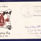 USS MEDUSA AR-1 Thanksgiving 1933 Naval Cover