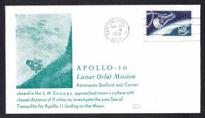 APOLLO 10 LUNAR ORBIT 1969 Space Cover