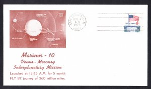MARINER 10 SPACECRAFT Launch 1973 Space Cover