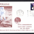 APOLLO 11 MOON LANDING 5th Anniversary 1974 Space Cover