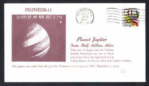 PIONEEER 11 SPACECRAFT Photographs Jupiter 1974 Space Cover