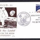 APOLLO 11 MOON LANDING 10th Anniversary 1979 Space Cover