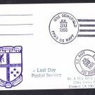 USS SCHOFIELD FFG-3 Last Day Postal Service Naval Cover