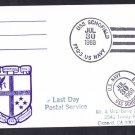 USS SCHOFIELD FFG-3 Last Day Postal Service Naval Cover