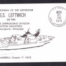 USS LEFTWICH DD-984 Commissioning Naval Cover