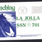 USS LAJOLLA SSN-701 Launching Naval Submarine Cover