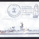 USS BARNEY DDG-6 OPASIL 1980 Boston Naval Cover MhCachets ONLY 3 MADE