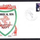 Guided Missile Destroyer USS HORNE DLG-30 Columbus Day BECK #B958 Naval Cover