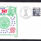Fleet Oiler USS NAVASOTA AO-106 Navy Day BECK #B972 Naval Cover