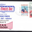 Repair Ship USS VULCAN AR-5 Armed Forces Day BECK #B906 Naval Cover